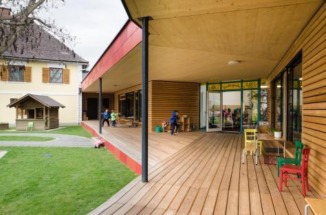 Zettling-10 Kindergarten - red - Arch Kos - Foto (c) Philipp Klein